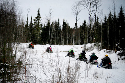 Snowmobile trails are all over